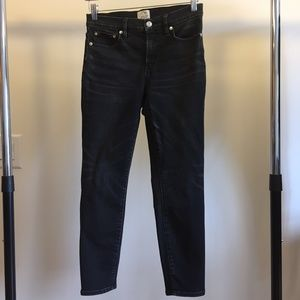 J.Crew high-rise toothpick jean in Charcoal, 27P
